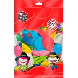 Globos de colores, 200 unidades. Globos para fiesta y cumpleaños
