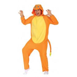 Disfraz de dragón naranja adulto. Disfraz de Pokémon Charmander para adulto