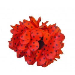 Flor Sevillana roja & lunares negros 13 cm