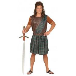 Disfraz de escocés valiente adulto. Disfraz de Braveheart para adulto