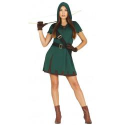 Disfraz de cazadora adulta. Disfraz de Robin Hood para mujer