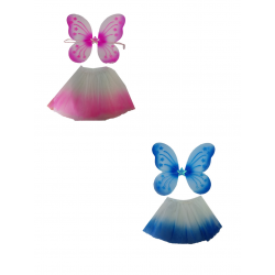 Conjunto Mariposa Tutú Azul/Rosa