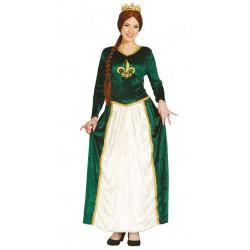 Disfraz de Reina Medieval Verde Adulta. Disfraz de Fiona Shrek