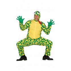 Disfraz de sapo adulto. Disfraz de rana verde para adulto