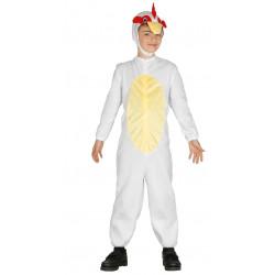 Disfraz de Gallina Infantil. traje de ave de corral para niño.