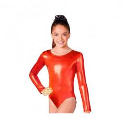 Maillot Infantil, Rojo Metalizado