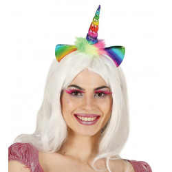 Diadema de Unicornio Arcoíris