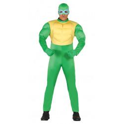 Disfraz de tortuga ninja verde para adulto