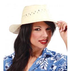 Sombrero de paja natural para verano y carnavales