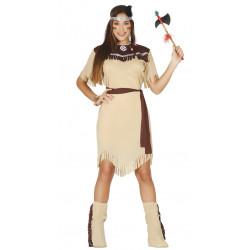 Disfraz de india adulta. Vestido de Pocahontas de Disney