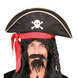 Sombrero Pirata Bucanero de Tela
