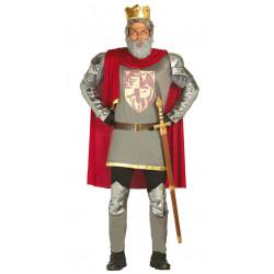 Disfraz de rey medieval corazón de león para adulto