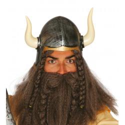 Casco de Bárbaro con Cuernos. Casco de vikingo