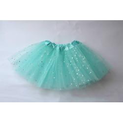 Tutú con Estrellas Infantil Azul Claro - Falda de Tul 30cm
