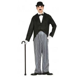 Disfraz de Mr. Actor adulto. Disfraz de Charles Chaplin para adulto