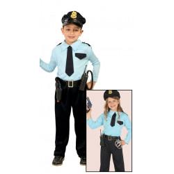 Disfraz de policia infantil. Uniforme policial para niño