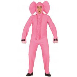 Disfraz de elefante rosa adulto