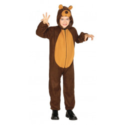 Disfraz de Oso Marrón Infantil. Pijama de Oso Grizzly para Niño