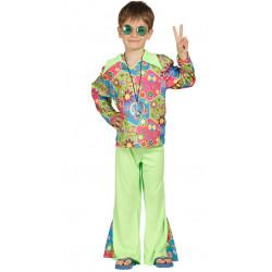 Disfraz hippie boy infantil, traje de movimiento hippie de niño