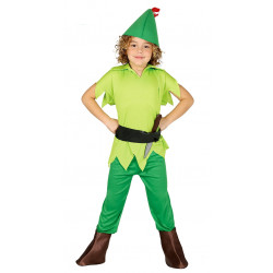 Disfraz de arquero verde infantil. Disfraz de Peter Pan para niño