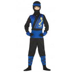 Disfraz de Ninja azul infantil . Traje de espia para niño