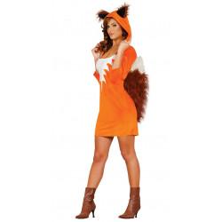 Disfraz de Foxy adulta. Vestido de zorro para mujer