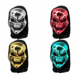 Máscara de Calavera Metalizada, Varios Colores