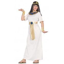 Disfraz de cleopatra adulta. Túnica blanca de egipcia