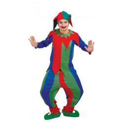 Disfraz de bufón colorines para adulto