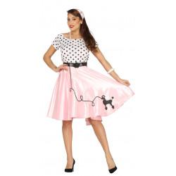 Disfraz de Poodle Girl adulta. Vestido chica pin-up para carnavales