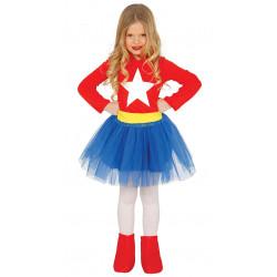 Disfraz de Super Chica infantil - Disfraz de Wonder Woman para Niña