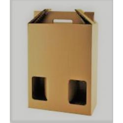 Caja de cartón, 3 botellas de vino