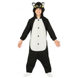 Disfraz de Gato Negro Infantil - Pijama de gato negro para niños