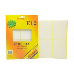 Etiqueta Adhesiva 69x100mm - 20 Unidades E12