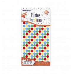 Etiquetas de Puntos de Colores, 600 unidades