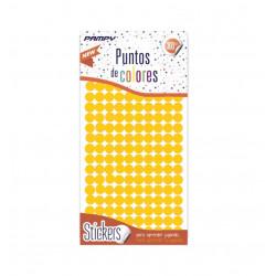 Etiquetas de Puntos de Colores, 600 unidades, 4 Láminas