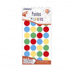 Etiquetas de Puntos de Colores, 112 unidades