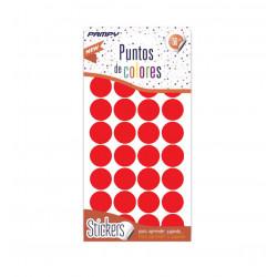 Etiquetas de Puntos de Colores, 112 unidades, 4 Láminas