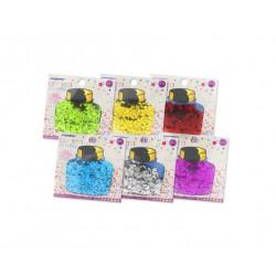 Confetti Metalizado de colores, Varias Formas