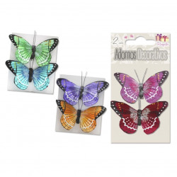 Mariposas 3D Decorativas, Set 2 Piezas
