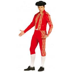 Disfraz de torero rojo para adulto