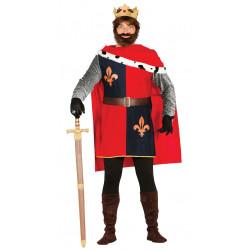 Disfraz de rey conquistador medieval para adulto