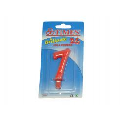 Vela de Cumpleaños No.7 Roja