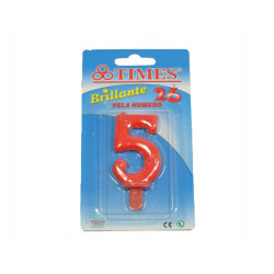 Vela de Cumpleaños No.5 Roja