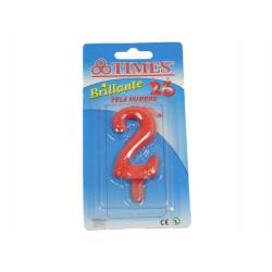 Vela de Cumpleaños No.2 Roja