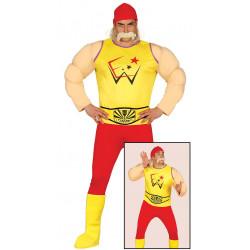 disfraz de luchador musculoso adulto. Disfraz de Hulk Hogan WWE para adulto