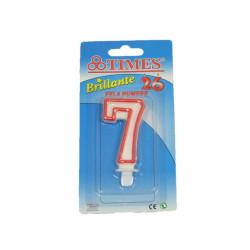 Vela de Cumpleaños No.7 Blanca