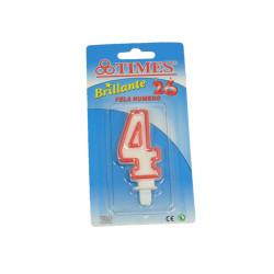 Vela de Cumpleaños No.4 Blanca
