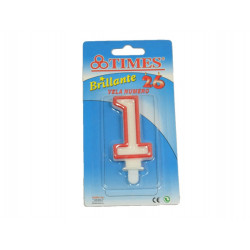 Vela de Cumpleaños No.1 Blanca