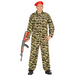 Disfraz de soldado ruso adulto. Disfraz de militar boina roja para adulto